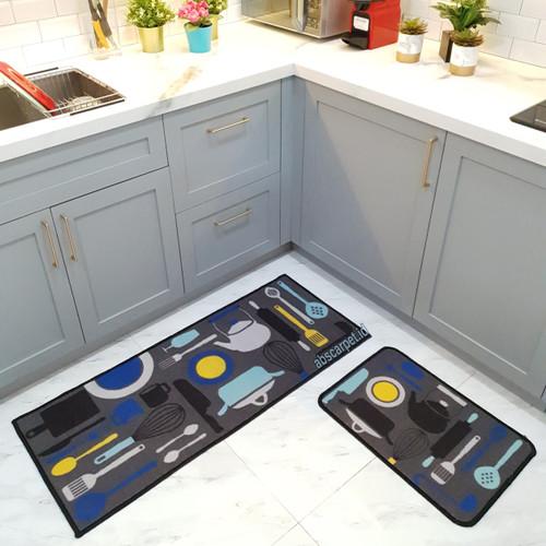 Foto Produk Paket Keset Dapur ukuran 50x120 dan 40x60 cm - Cooking Set dari ABS Carpet id