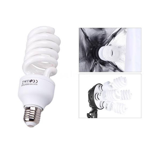 Foto Produk Bohlam Foto Video Light Studio E27 Lamp Holder 5500k Lampu Photo Soft dari zona camera