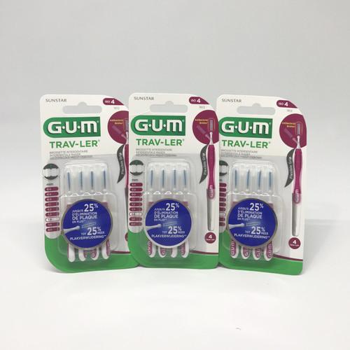 Foto Produk Sikat Celah Gigi GUM, Brush Floss GUM Ortho Traveler 1612 Magenta 1.4 dari BigOneOnline