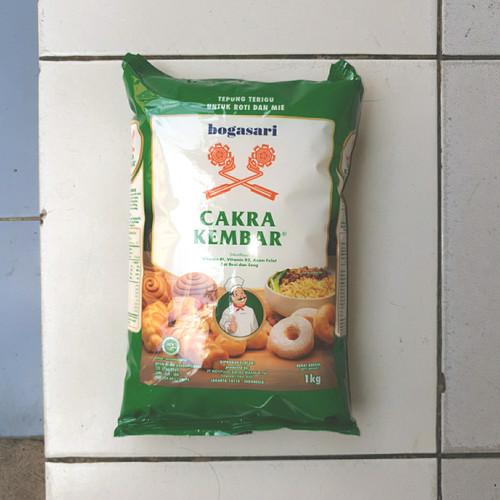 Foto Produk [satuan] Tepung Terigu CAKRA KEMBAR Hijau Premium 1 Kilo/1Kg/1 Kg dari Aimee Bag & Plush Toys