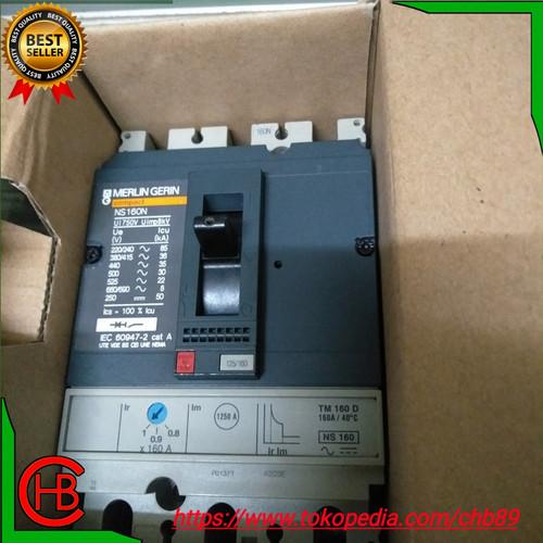 Foto Produk MCCB MERLIN GERIN NS160N 3P 160A 125A Harga SAMA!! - 160 amper dari CHB Electric