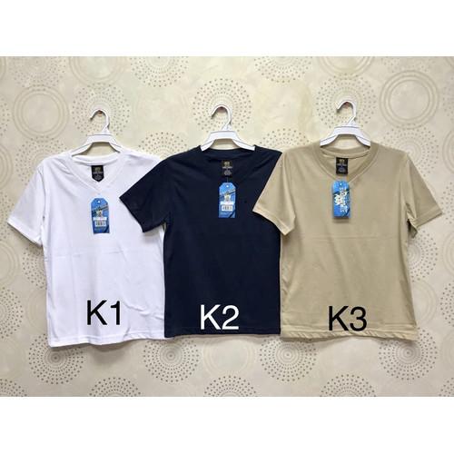 Foto Produk Kaus/Kaos/Tshirt/Oblong V Polos Santai Adem Anak Laki/Perempuan K4 - 8 dari Daily Style89