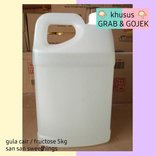 Foto Produk gula cair / gula cair buah / fructose / fruktosa 5kg grab gojek dari san san sweethings