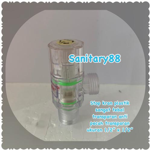 """Foto Produk Stop Kran Shower Plastik 1/2""""x1/2"""" dari Sanitary88"""