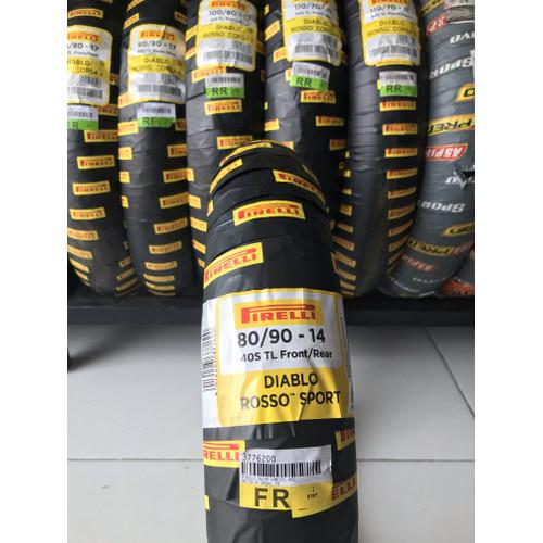 Foto Produk Ban Pirelli Diablo Rosso Sport 80/90-14 dari Forever two wheel