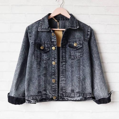 Foto Produk jaket jeans wash wanita termurah - Black Snow dari PUSATFASHIONSOLO
