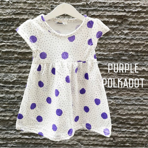 Foto Produk Dress Lakawa Purple Polkadots (M/L) - M dari Lakawa Collection