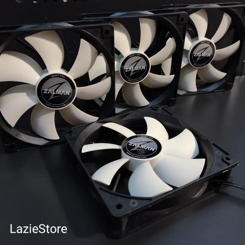 Foto Produk Ready! Fan Casing CPU Case Fan 12cm Zalman Hitam ZA1225ASL 12V New dari LazieStore