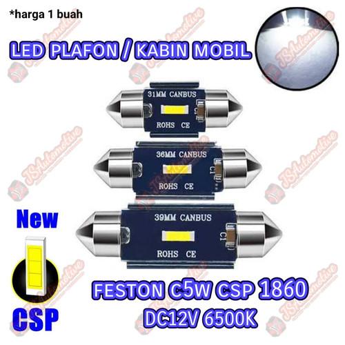 Foto Produk Lampu LED plafon/kabin mobil feston 31/36/39 mm chip CSP 1860 Putih - 31mm dari JSA-RAYmart