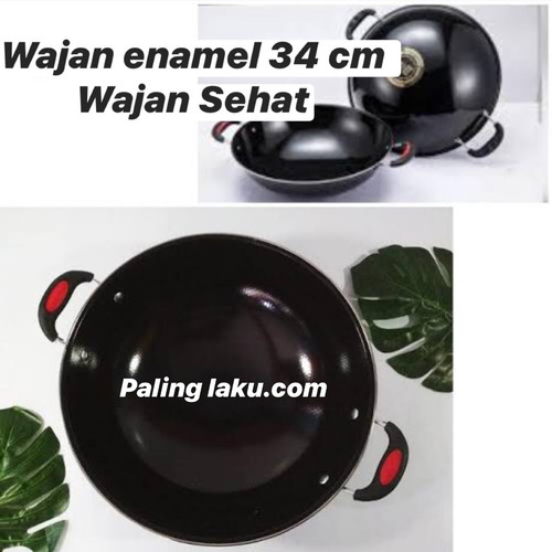 Foto Produk WAJAN ENAMEL 34 cm - Wajan Sehat dari Cellis Houseware