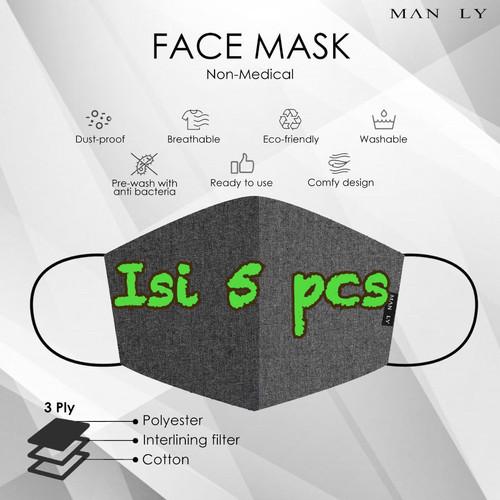 Foto Produk Masker kain 3 ply dengan filter merk Manly dari Sari Agung Kertas