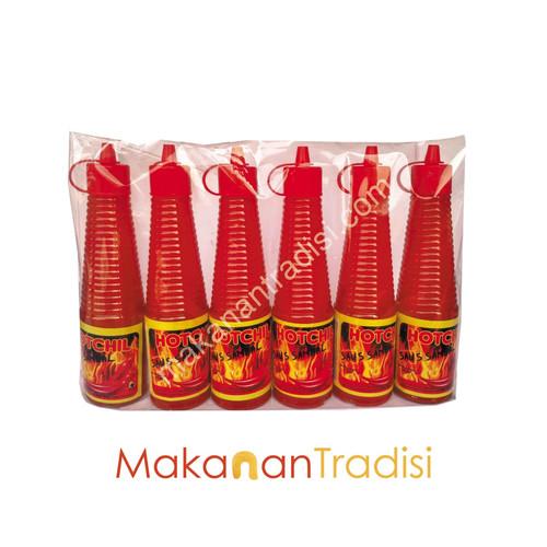 Foto Produk 6 Botol Saos Sambal Hot Chil 140 ml dari Makanan Tradisi Id