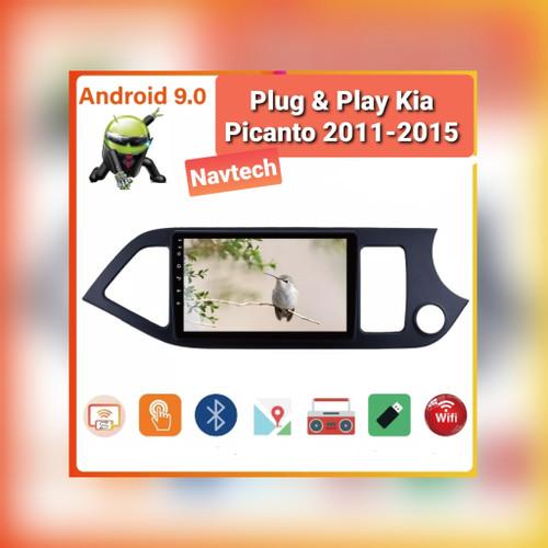 "Foto Produk Head unit android 9"" 2GB Kia Picanto 2011-2015 SPLIT SCREEN IPS 2.5D - 1GB 16GB dari Navtech"
