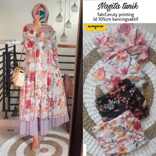 Foto Produk tunik bangkok nagita midi dress zara - Mint, all size dari Paris style