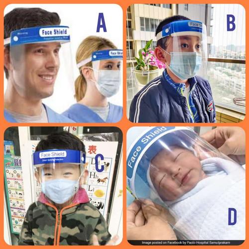 Foto Produk Face shield Bayi/Balita/Anak/Dewasa /Baby / Safety Mask - Dewasa dari Kreasi Putra Mandiri