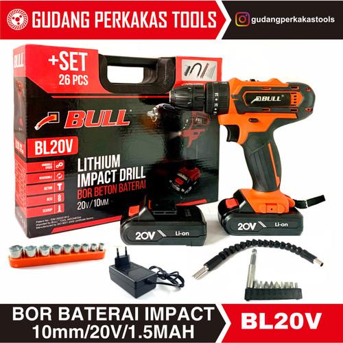 Foto Produk Bor Beton Baterai /impact cordless drill BL20V BULL dari Gudang Perkakas Tools