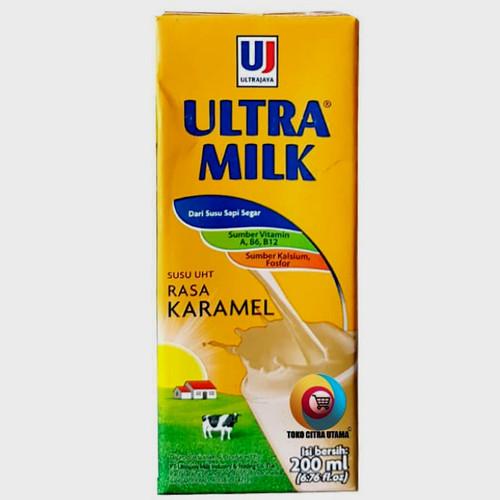 Foto Produk Susu Ultra Caramel 200 ml dari WARUNG MAS AJI
