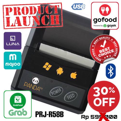 Foto Produk MINI PORTABLE PRINTER PPOB/KASIR 58MM THERMAL PANDA-R58B(USB+BLUETOOTH dari PANDA RETAIL SOLUTIONS