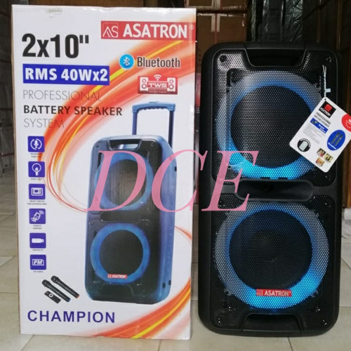 Foto Produk Speaker Portable Meeting Wireless ASATRON CHAMPION 2x10 inch dari D C E