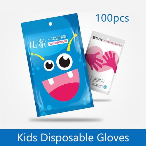 Foto Produk SARUNG TANGAN ANAK PLASTIK DISPOSABLE KIDS GLOVES ISI 100 SEKALI PAKAI dari The lucky stuff