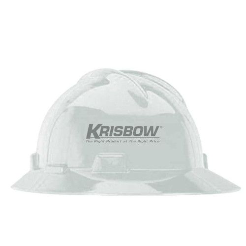 Foto Produk Helmet Full Brim White Krisbow Original / Helm Safety Fullbrim Proyek dari Mister Project