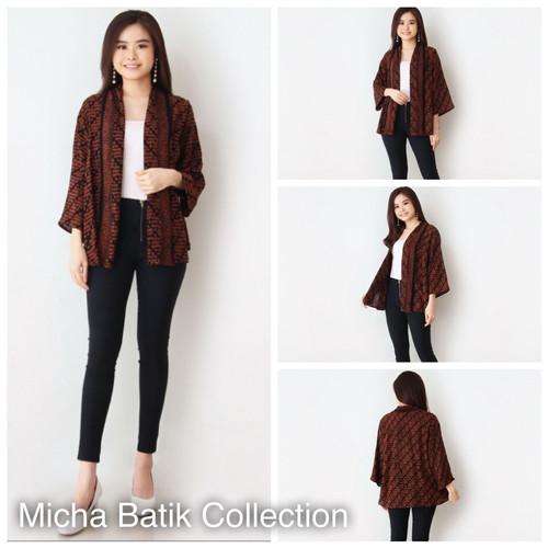 Foto Produk Outer batik paris: Cardigan Sogan Coklat dari Micha Batik Collection