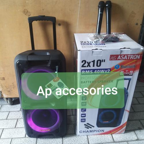 Foto Produk speaker bluetooth Asatron Champion 2x10 pengganti 8872meeting portable dari AP accesories