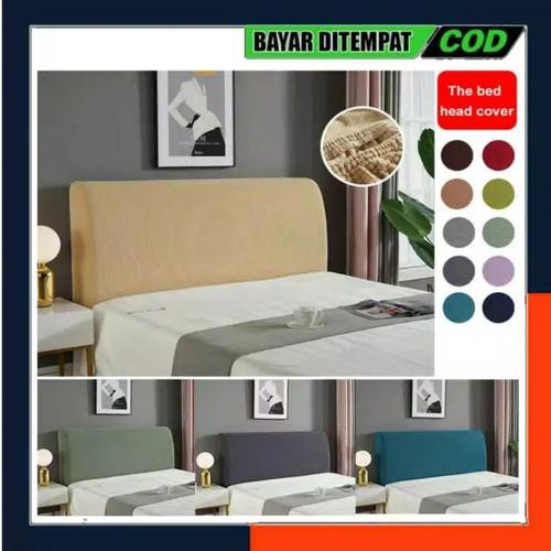 Foto Produk COVER HEADBOARD SARUNG SANDARAN KEPALA TEMPAT TIDUR PENUTUP DIVAN - 90-100 Cm, Hijau Tosca dari Eljida Store