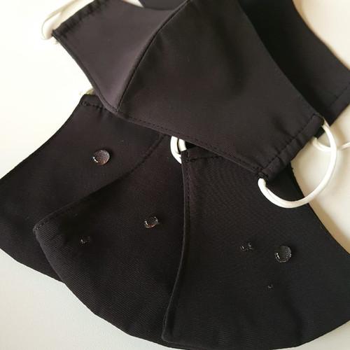 Foto Produk Masker kain WATER REPELLENT (KIDS) 3 ply - BLACK - FACTORY DIRECT dari Moteza Indonesia
