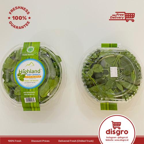 Foto Produk Highland baby spinach 100 gr bayam baby 100gr dari DISGRO
