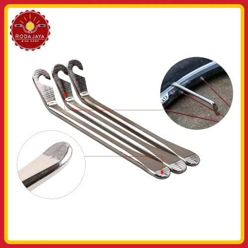 Foto Produk Kunci Sendok Ban Sepeda (alat cungkil ban) made in Taiwan dari Rodajaya Olshop