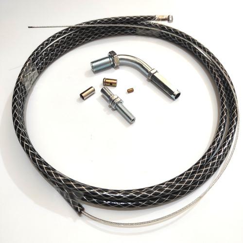 Foto Produk kabel gas serat plus L gas CNC universal bisa untuk semua motor 190cm - Hitam dari JK ESTORE