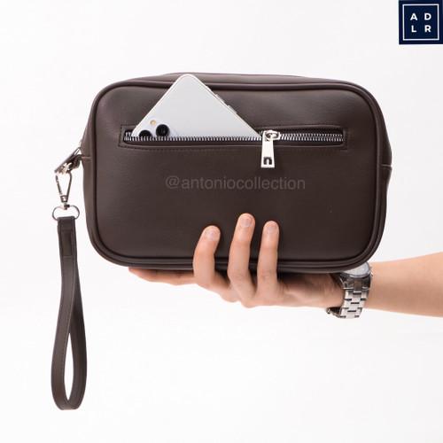 Foto Produk Handbag Pria Kulit / Tas Tangan / Pouch / Clutch Gadget Ipad Hand Bag dari antoniocollection
