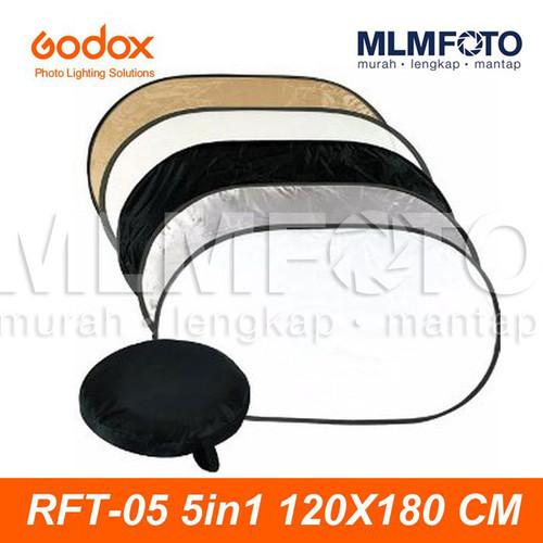 Foto Produk GODOX 5 IN 1 120x180CM COLLAPSIBLE REFLECTOR RFT-05 5IN1 OVAL 120x180 dari MLMFOTO