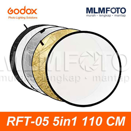 Foto Produk GODOX 5 IN 1 110CM COLLAPSIBLE REFLECTOR RFT-05 5IN1 ROUND CIRCLE 110 dari MLMFOTO