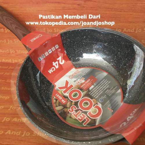 Foto Produk Frywok Marble Anti Lengket 24cm Cypruz Penggorengan dari Jo And Jo Shop