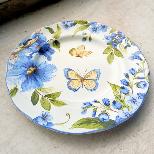Foto Produk Salad / Fruit Plate Piring kecil Cantik Motif Violet Flo dari Gamevil Shop