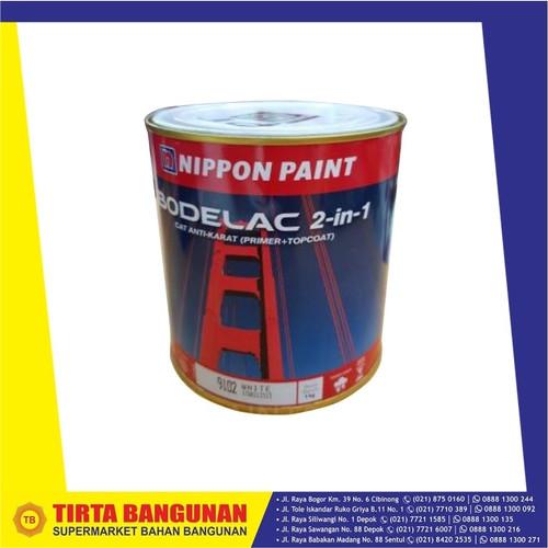 Foto Produk NIPPON BODELAC 2 - 1 CAT BESI ANTI KARAT 9103 BLACK 1 KG dari Tirta Bangunan