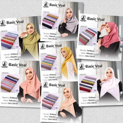 Foto Produk Hijab jilbab kerudung segi empat basic voal by umama scraf dari karunia muslim