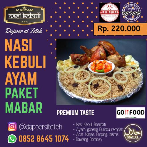 Foto Produk Nasi Kebuli Ayam spesial Basmati Paket Mabar untuk 5-6 orang dari Arief Online Shop