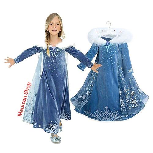 Foto Produk Kostum Elsa Frozen 2 Dress Princess Disney Elsa Anna Kostum Cosplay - S dari MadisonShop