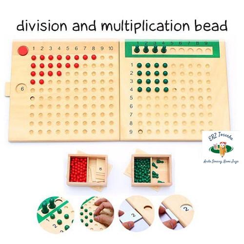 Foto Produk Paket lengkap 2 Board, Montessori Division & Multiplication Bead Math dari ERZ Toserba 2