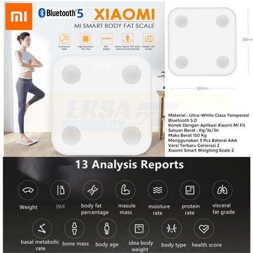 Foto Produk Timbangan Xiaomi Mi Smart Scale 2 Body Fat Analyzer With 10 Physical dari Ersaguns