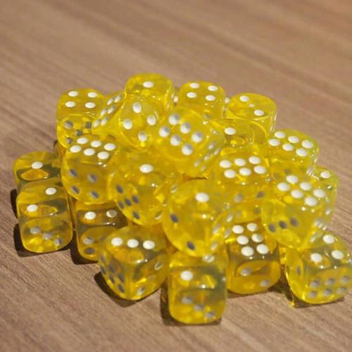 Foto Produk Dadu Dot Warna Warni - D6 Dice - Kuning dari Tabletoys