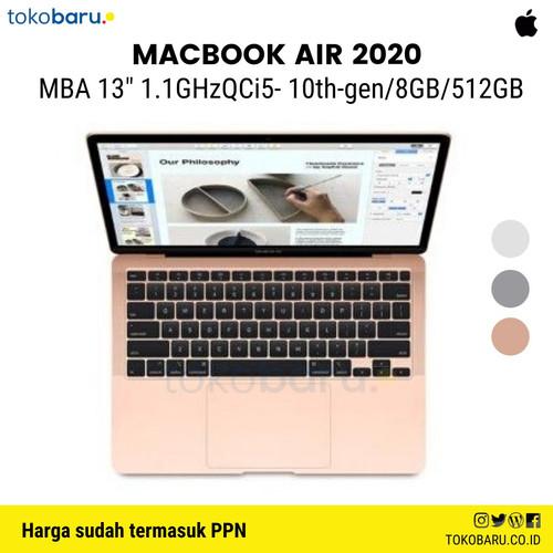 """Foto Produk New MacBook Air 2020 13"""" i5 1.1Ghz/512 SSD/8GB Touch ID - Gold dari Toru.1"""