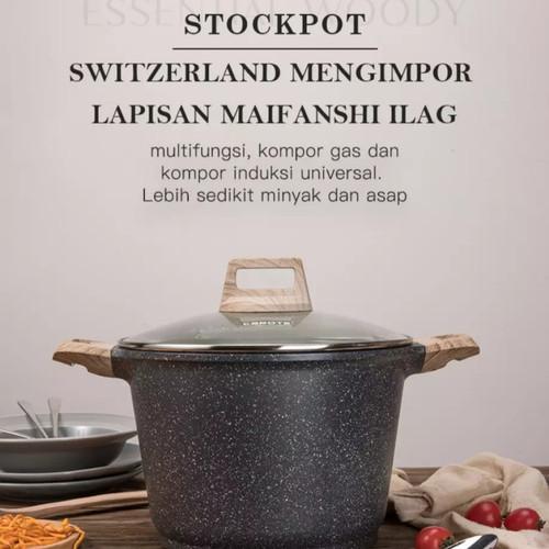 Foto Produk Carote Stock Pot Panci With Lid 24 Cm dari MCI-BioGlass