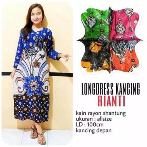 Foto Produk Longdress batik / daster panjang / baju daster / gamis rayon dari RisqianaBatik