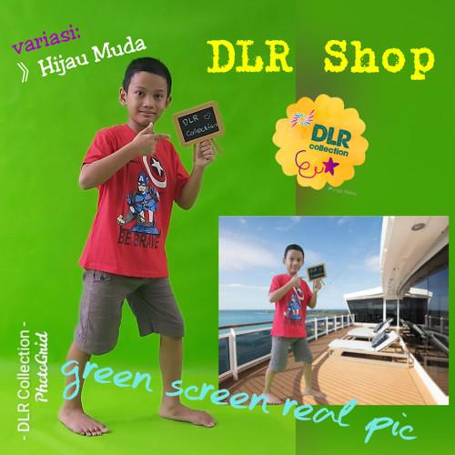 Foto Produk green screen 3 x 1.6 mtr bahan spunbond - Hijau Muda, 75 gram dari DLR Shop