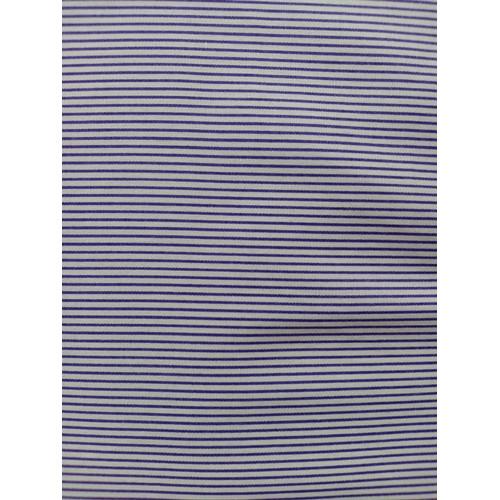 Foto Produk Kain katun jepang motif stripe ( dasar putih garis ungu) dari Klarisma Textile