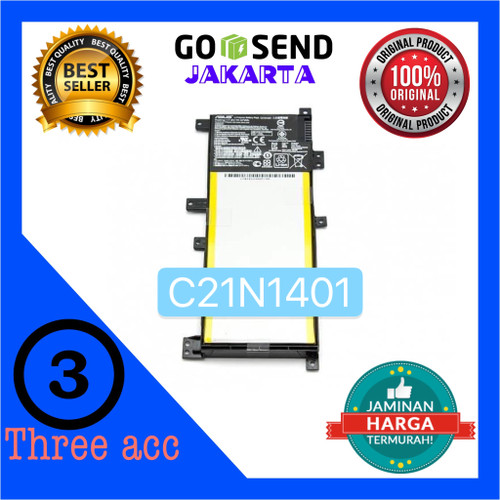 Foto Produk Baterai ASUS X454W X454WA X454Y X454YA X454L X454LA / PN: C21N1401 dari Three Acc